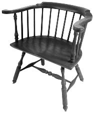 Windsor chair low back